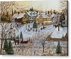 A Christmas Village Acrylic Print by Doug Kreuger