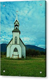 A Church In British Columbia   Acrylic Print by Jeff Swan