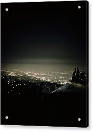 A City At Night Acrylic Print by Constantin Joffe