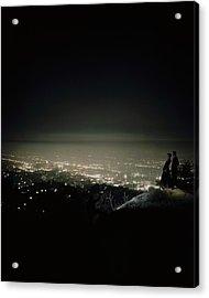 A City At Night Acrylic Print