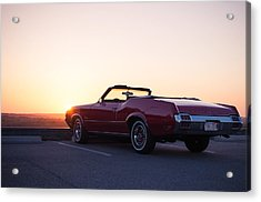 A Classic At Sunset Acrylic Print by Lee Costa