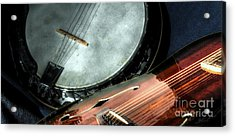 A Classic Pairing Digital Guitar And Banjo Art By Steven Langston Acrylic Print by Steven Lebron Langston
