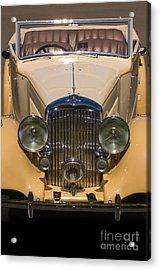 A Classic Rolls Royce Acrylic Print by Ron Sanford