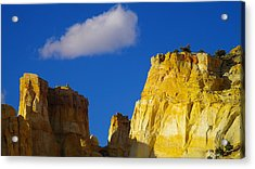 A Cloud Over Orange Rock Acrylic Print by Jeff Swan