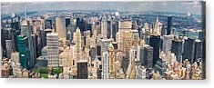 A Cloudy Day In New York City   Acrylic Print by Lars Lentz