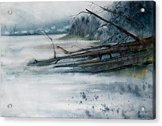 A Cold And Foggy View Acrylic Print