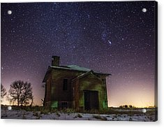 A Cold Dark Place Acrylic Print by Aaron J Groen