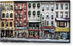 A Cold Day In Ny Acrylic Print by Peter Pfeiffer