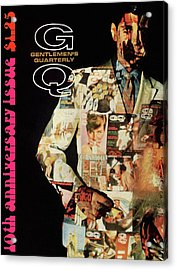 A Collage Of Gq Covers Acrylic Print by Leonard Nones
