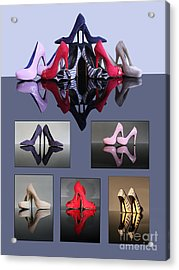 A Collection Of Stiletto Shoes Acrylic Print