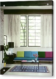 A Colourful Living Room Acrylic Print