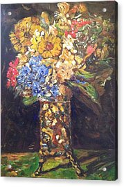 Acrylic Print featuring the painting A Colorful Sun-day by Belinda Low