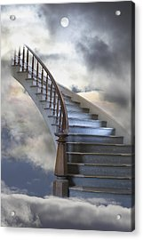A Composite Entitled Staircase Acrylic Print by Robert Bartow