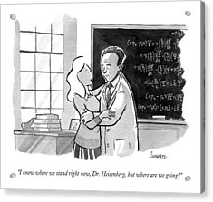 A Concerned Woman Embraces Dr. Heisenberg Acrylic Print