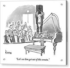 A Concert Pianist Hangs Upside Acrylic Print