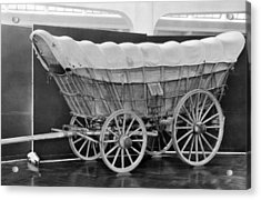 A Conestoga Covered Wagon Acrylic Print by Underwood Archives
