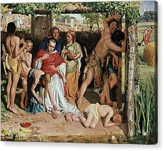 A Converted British Family Sheltering A Christian Missionary From The Persecution Of The Druids Acrylic Print by William Holman Hunt