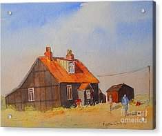 Acrylic Print featuring the painting A Corner Of Dungeness by Beatrice Cloake