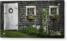 A Cottage Garden - Essence Of Mid Coast Maine Acrylic Print by Thomas Schoeller