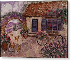 A Cottage In Provence Acrylic Print