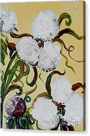 A Cotton Pickin' Couple Acrylic Print by Eloise Schneider