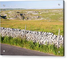 A Country Road Out Of Malham Acrylic Print by Ashley Cooper