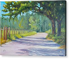 A Country Road Acrylic Print by Rich Kuhn