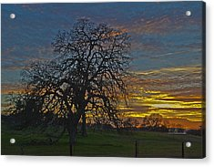 A Country Sunset Acrylic Print by Richard Risely