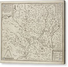 A County Map Of Hertfordshire Acrylic Print by British Library
