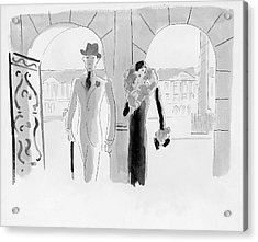 A Couple At The Ritz Hotel Acrylic Print