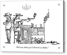 A Cowboy In A Saloon Has Just Shot The Bartender Acrylic Print