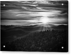Acrylic Print featuring the photograph A Cowee Mountains Evening by Ben Shields