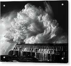 A Crashing Wave Acrylic Print