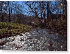 A Creek Runs Though It Acrylic Print by Thomas Sellberg