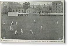 A Cricket Match In A City Acrylic Print by British Library
