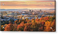 A Crisp Fall Morning In Chattanooga  Acrylic Print by Steven Llorca