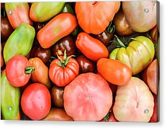 A Crop Of Varieties Of Tomato Acrylic Print