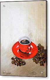 A Cup Of Coffee Acrylic Print by Rafath Khan