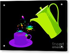 A Cup Of Rainbow Acrylic Print by Michelle Orai