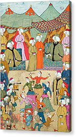 A Dance For The Pleasure Of Sultan Ahmet IIi 1673-1736 From The Surnama, 1720 Acrylic Print by Ottoman School