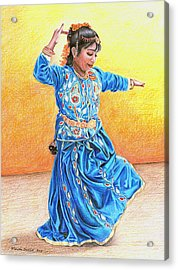 A Dancer Acrylic Print by Noriko DeWitt
