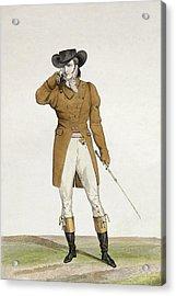 A Dandy Acrylic Print by Antoine Charles Horace Vernet