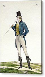 A Dandy In A Robinson Hat Acrylic Print by Antoine Charles Horace Vernet