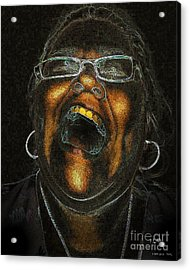 A Dark Laugh Acrylic Print by Pedro L Gili