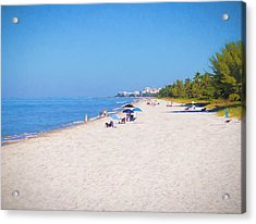 A Day At Naples Beach Acrylic Print