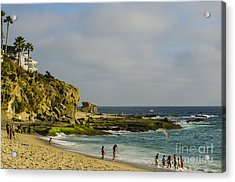 A Day At The Beach Acrylic Print by Deborah Smolinske