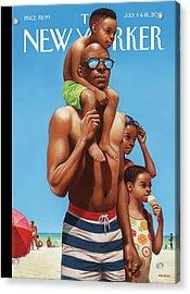A Day At The Beach Acrylic Print by Kadir Nelson