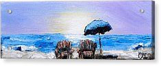 A Day At The Beach Acrylic Print by Melissa Torres
