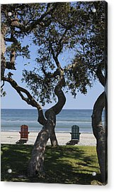 A Day At The Beach Acrylic Print by Mike McGlothlen