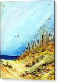 Acrylic Print featuring the painting A Day At The Ocean by Dorothy Maier